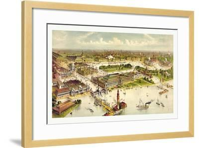 Grand Birds Eye View of the Grounds and Buildings of the Great Columbian Exposition at Chicago-Currier & Ives-Framed Giclee Print