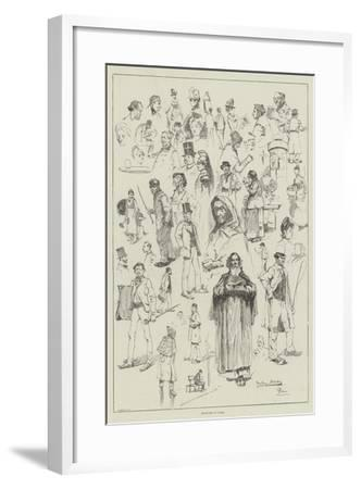 Sketches in Paris-David Hardy-Framed Giclee Print