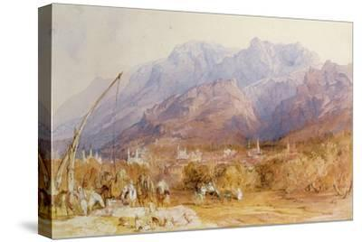 A North African Scene-David Roberts-Stretched Canvas Print