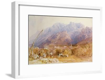 A North African Scene-David Roberts-Framed Giclee Print