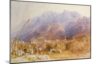 A North African Scene-David Roberts-Mounted Giclee Print