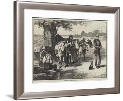 Quiet Times, a Sketch on Hampstead Heath-Edwin Buckman-Framed Giclee Print
