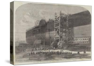 Chain-Drums and Checking-Gear Used at the Attempted Launch of the Leviathan-Edwin Weedon-Stretched Canvas Print