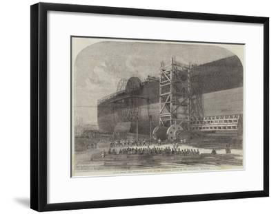 Chain-Drums and Checking-Gear Used at the Attempted Launch of the Leviathan-Edwin Weedon-Framed Giclee Print
