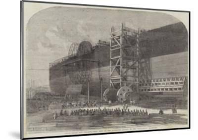 Chain-Drums and Checking-Gear Used at the Attempted Launch of the Leviathan-Edwin Weedon-Mounted Giclee Print
