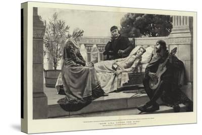 How Lisa Loved the King-Edmund Blair Leighton-Stretched Canvas Print