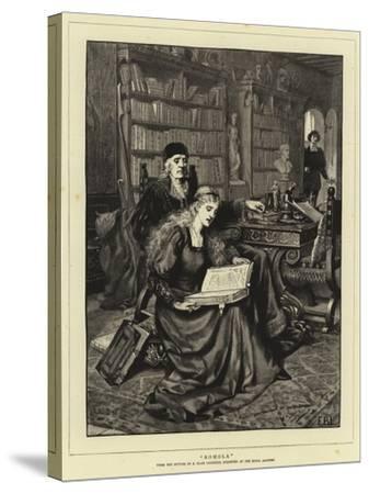 Romola-Edmund Blair Leighton-Stretched Canvas Print