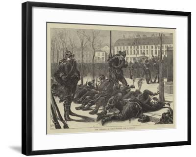The Germans in Paris, Waiting for a Passage-Edward John Gregory-Framed Giclee Print
