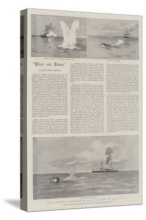HMS Crescent, Commanded by HRH the Duke of York, at Sea-Eduardo de Martino-Stretched Canvas Print