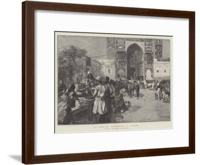 An Open-Air Restaurant at Lahore-Edwin Lord Weeks-Framed Giclee Print