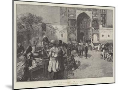 An Open-Air Restaurant at Lahore-Edwin Lord Weeks-Mounted Giclee Print