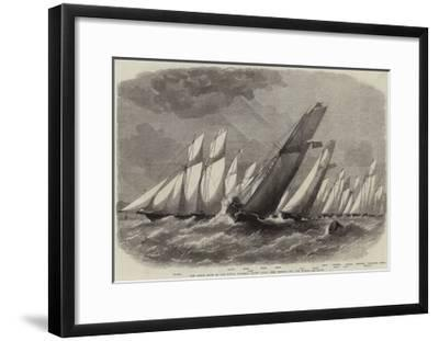 The Ocean Race of the Royal Victoria Yacht Club, the Vessels Off the Noman-Edwin Weedon-Framed Giclee Print