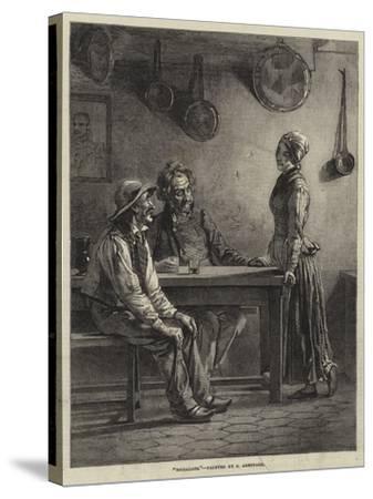 Socialists-Edward A. Armitage-Stretched Canvas Print