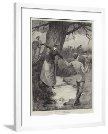 Divided Interests, 'Twixt Love and Sport-Edward Frederick Brewtnall-Framed Giclee Print