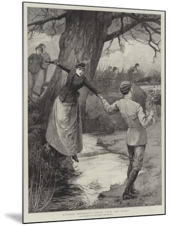 Divided Interests, 'Twixt Love and Sport-Edward Frederick Brewtnall-Mounted Giclee Print