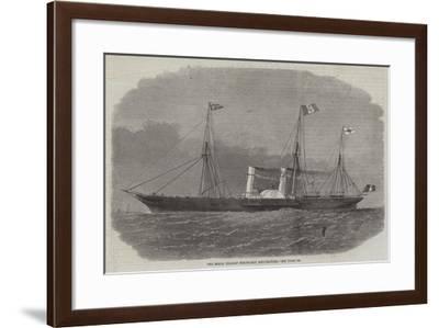 The Royal Italian Steam-Ship Esploratore-Edwin Weedon-Framed Giclee Print