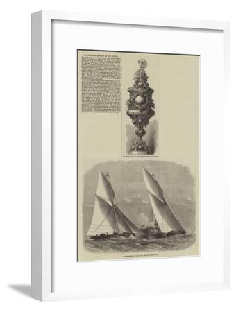 Yacht Sailing-Matches on the Thames-Edwin Weedon-Framed Giclee Print