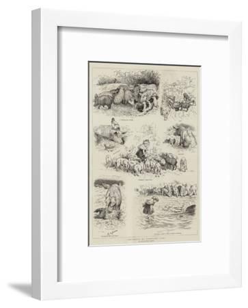 Incidents of Farmyard Life-Edward Killingworth Johnson-Framed Giclee Print