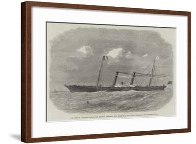 The London, Chatham, and Dover Railway Company's New Steam-Boat the Prince Imperial-Edwin Weedon-Framed Giclee Print
