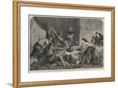 Esther's Banquet-Edward Armitage-Framed Giclee Print