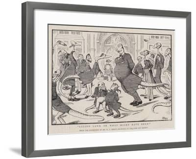 Lizard Land, or What Might Have Been!-Edward Tennyson Reed-Framed Giclee Print