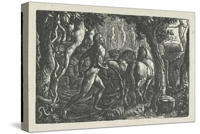 The Ploughman: Christian Ploughing the Last Furrow of Life-Edward Calvert-Stretched Canvas Print