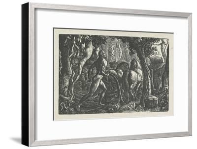 The Ploughman: Christian Ploughing the Last Furrow of Life-Edward Calvert-Framed Giclee Print