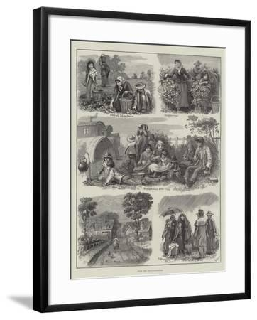 With the Fruit-Gatherers-Edmund Richard White-Framed Giclee Print