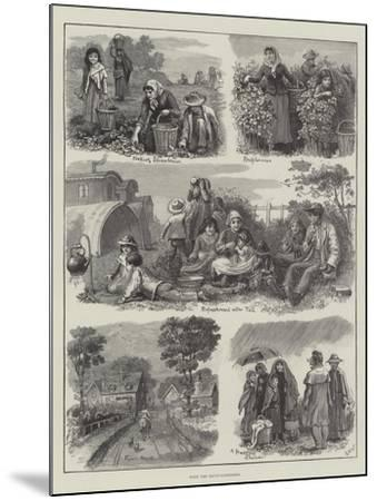 With the Fruit-Gatherers-Edmund Richard White-Mounted Giclee Print