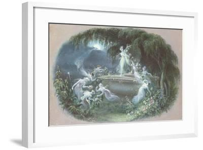 The Visit at Moonlight, 1832-Edmund Thomas Parris-Framed Giclee Print