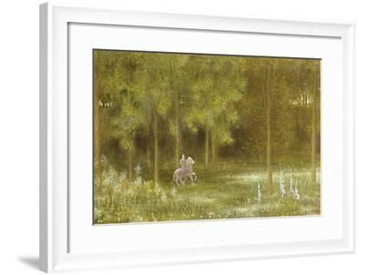 Knight in a Landscape-Edward Clifford-Framed Giclee Print