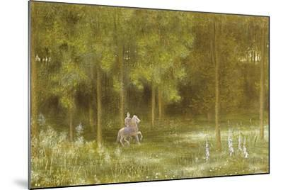 Knight in a Landscape-Edward Clifford-Mounted Giclee Print