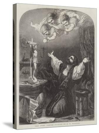 The Ivory Carver-Edward Henry Wehnert-Stretched Canvas Print