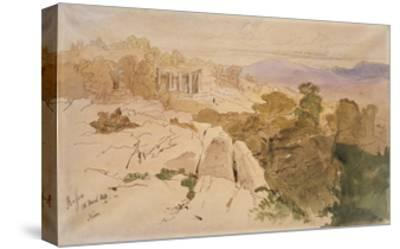 The Temple of Apollo at Bassae-Edward Lear-Stretched Canvas Print