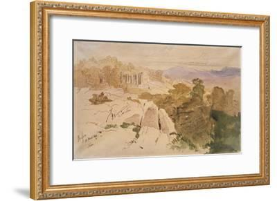 The Temple of Apollo at Bassae-Edward Lear-Framed Giclee Print