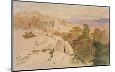 The Temple of Apollo at Bassae-Edward Lear-Mounted Giclee Print