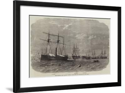 Her Majesty's Ship Majestic Keeping Watch over the Steam-Rams in the Mersey-Edwin Weedon-Framed Giclee Print