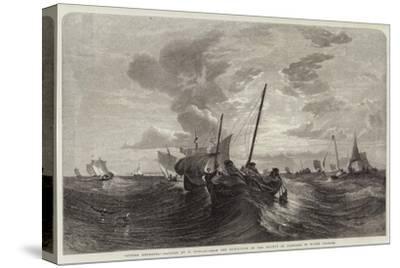 Oyster Dredging-Edward Duncan-Stretched Canvas Print