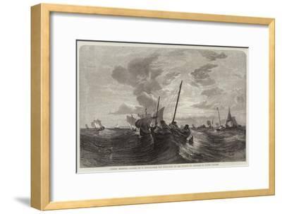 Oyster Dredging-Edward Duncan-Framed Giclee Print