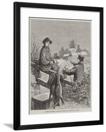 A Christmas Present, Waiting for the Coach-Edward Duncan-Framed Giclee Print