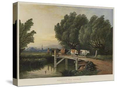 Crossing the Stream-Edward Duncan-Stretched Canvas Print