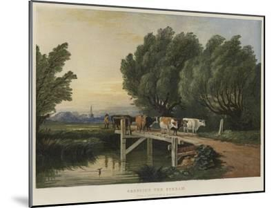 Crossing the Stream-Edward Duncan-Mounted Giclee Print
