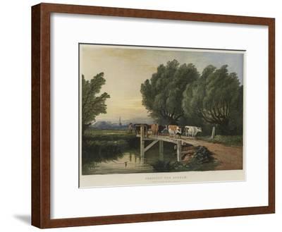 Crossing the Stream-Edward Duncan-Framed Giclee Print