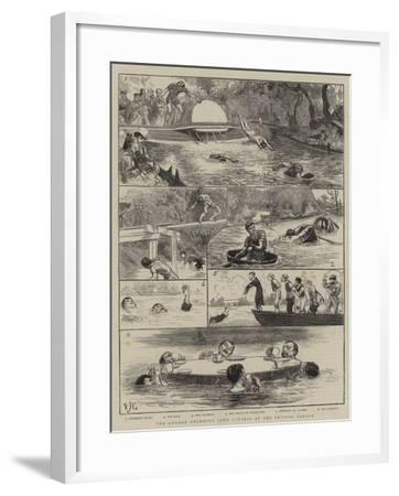 The London Swimming Club Contest at the Crystal Palace-Edward John Gregory-Framed Giclee Print