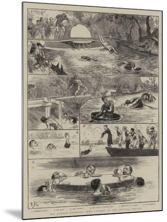 The London Swimming Club Contest at the Crystal Palace-Edward John Gregory-Mounted Giclee Print