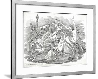 The Blue Riband of the Ocean, 1899-Edward Linley Sambourne-Framed Giclee Print