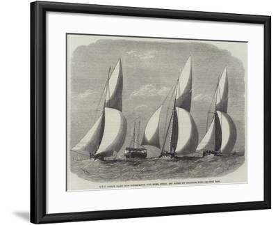 Royal London Yacht Club Cutter-Match, the Niobe, Sphinx, and Vindex Off Coalhouse Point-Edwin Weedon-Framed Giclee Print