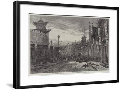 Circular-Street, Pekin-Eduard Hildebrandt-Framed Giclee Print