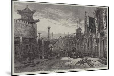 Circular-Street, Pekin-Eduard Hildebrandt-Mounted Giclee Print