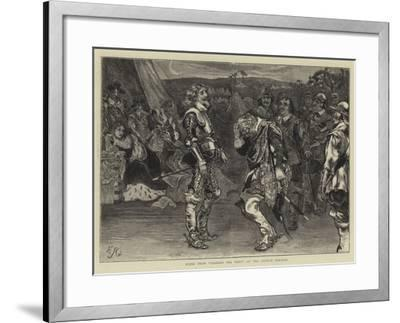 Scene from Charles the First at the Lyceum Theatre-Edward John Gregory-Framed Giclee Print